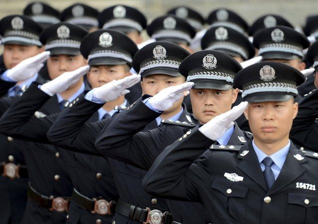 Los policías chinos (archivo)