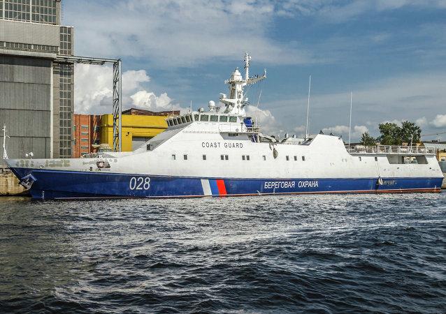 Un buque patrullero del tipo Ojótnik (Cazador en ruso) (Archivo)