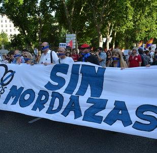 Miles de personas protestan en España contra la Ley Mordaza