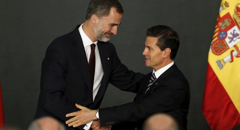 Rey de España Felipe VI y presidente de México, Enrique Peña Nieto