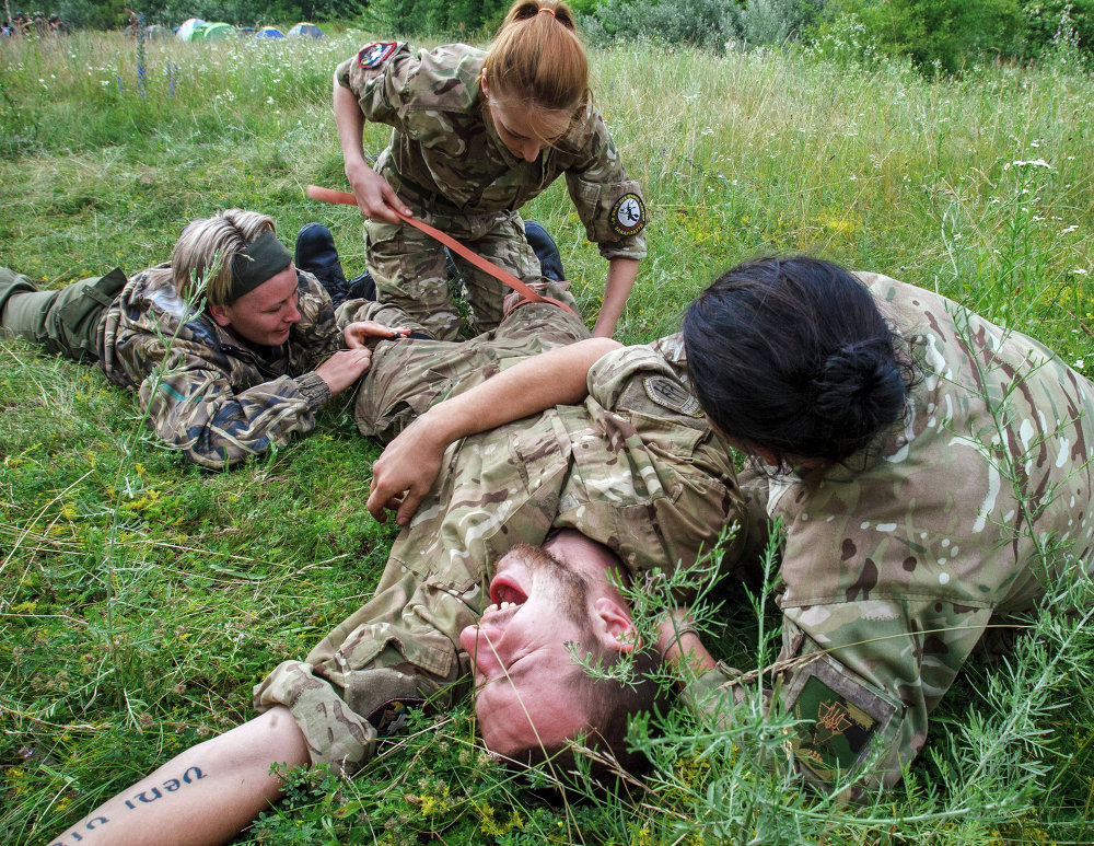 Ejercicios militares de Pravy Sektor en Zakarpatia