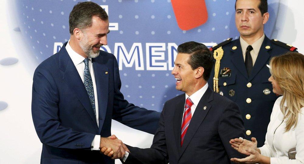 Rey de España, Felipe VI, y presidente de México, Enrique Peña Nieto