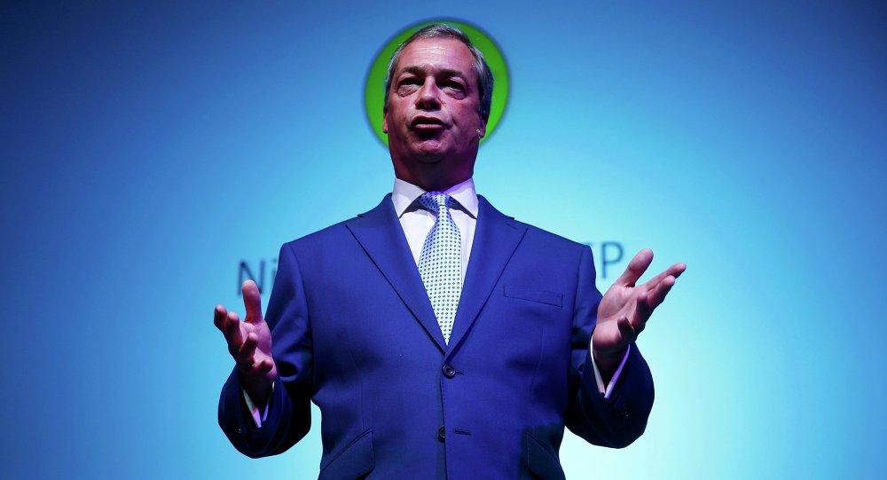 Nigel Farage, líder del Partido por la Independencia de Reino Unido (UKIP)