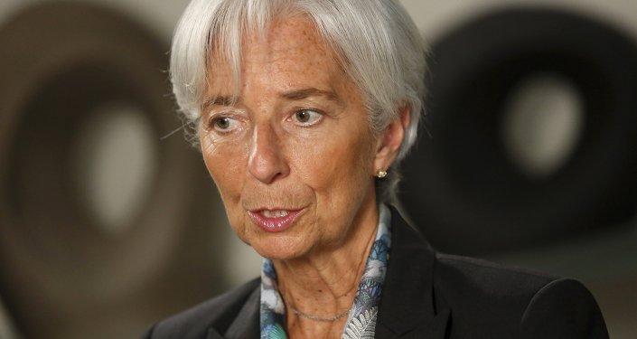 Christine Lagarde, directora del Fondo Monetario Internacional (FMI), el 1 de julio, 2015