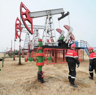 Extracción del crudo en la petrolera rusa (archivo)