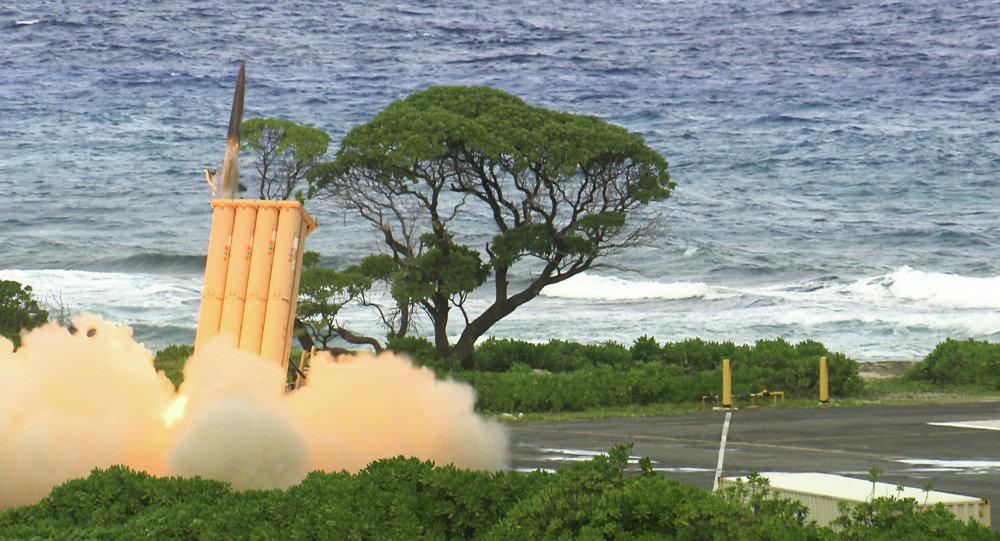 Sistema móvil del lanzamiento de misiles THAAD