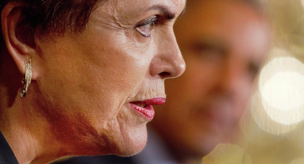 Dilma Rousseff, presidenta de Brasil, durante una reunión con Barack Obama, presidente de EEUU