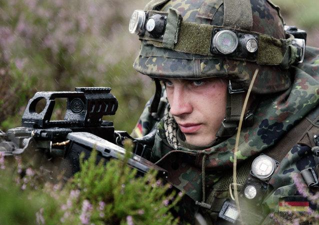 Un soldado alemán
