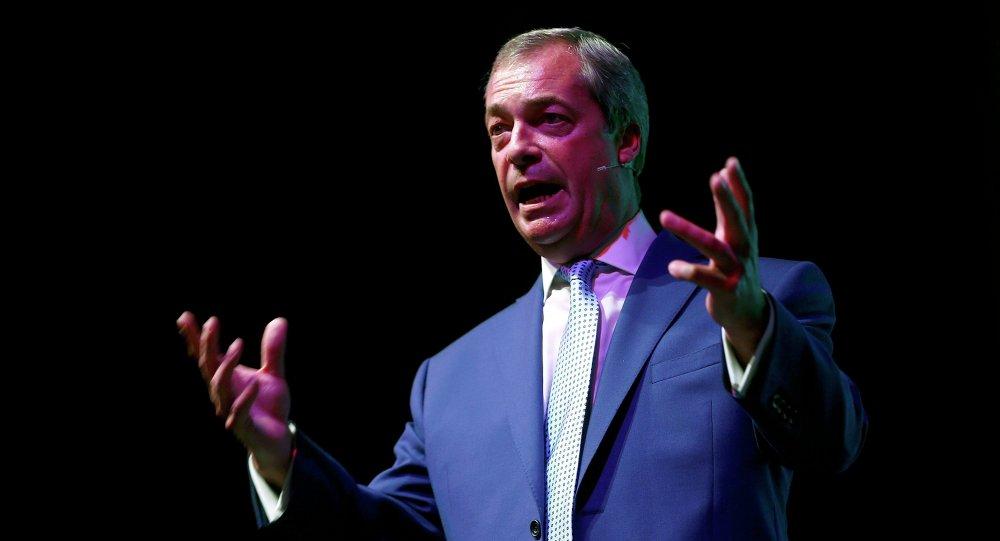 Nigel Farage, ex líder del Partido por la Independencia de Reino Unido (UKIP)