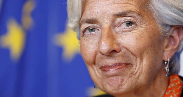 Christine Lagarde, directora del Fondo Monetario Internacional, el 18 de junio, 2015