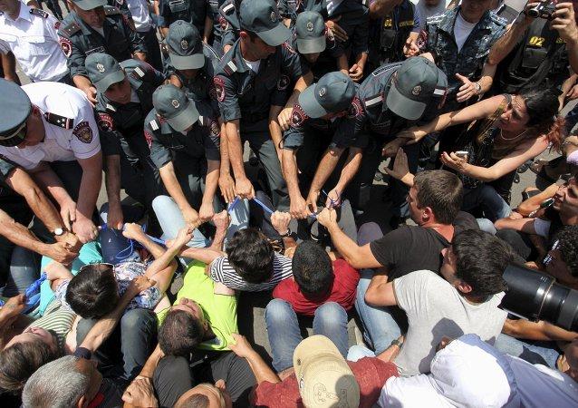 Protestas en Ereván