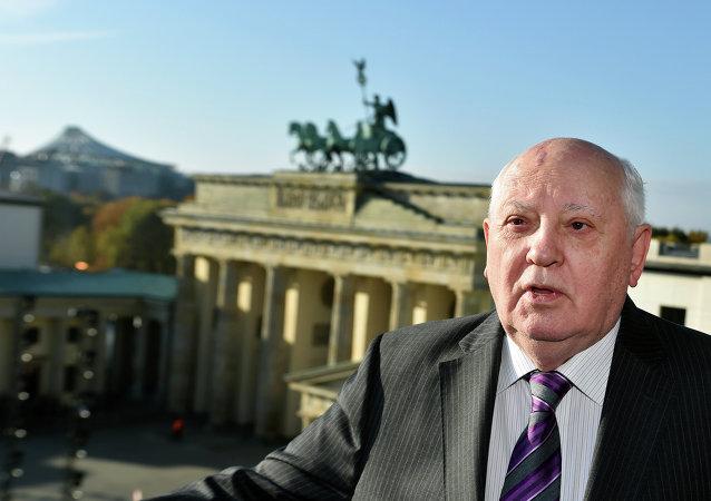 Mijaíl Gorbachov en Berlín