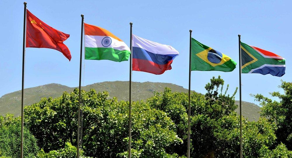 Banderas de los países BRICS
