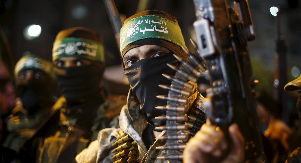 Militantes palestinos de Hamás en la Franja de Gaza (archivo)