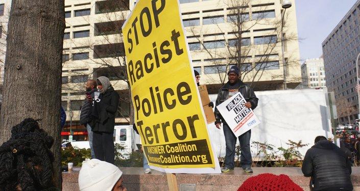 Protesta contra la violencia policial en Washington D.C., EEUU