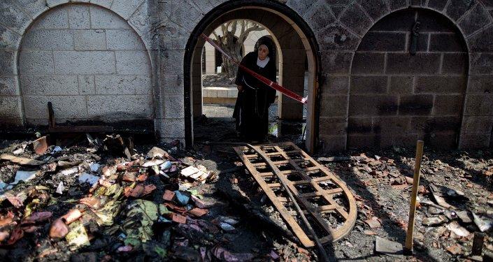 La iglesia de la Multiplicación, destruida por el incendio