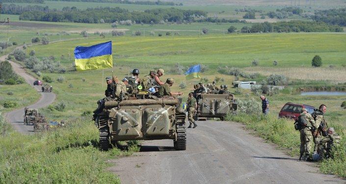 Tropas ucranianos en cerca la ciudad de Artemivsk en la región ucraniana de Donbás (archivo)