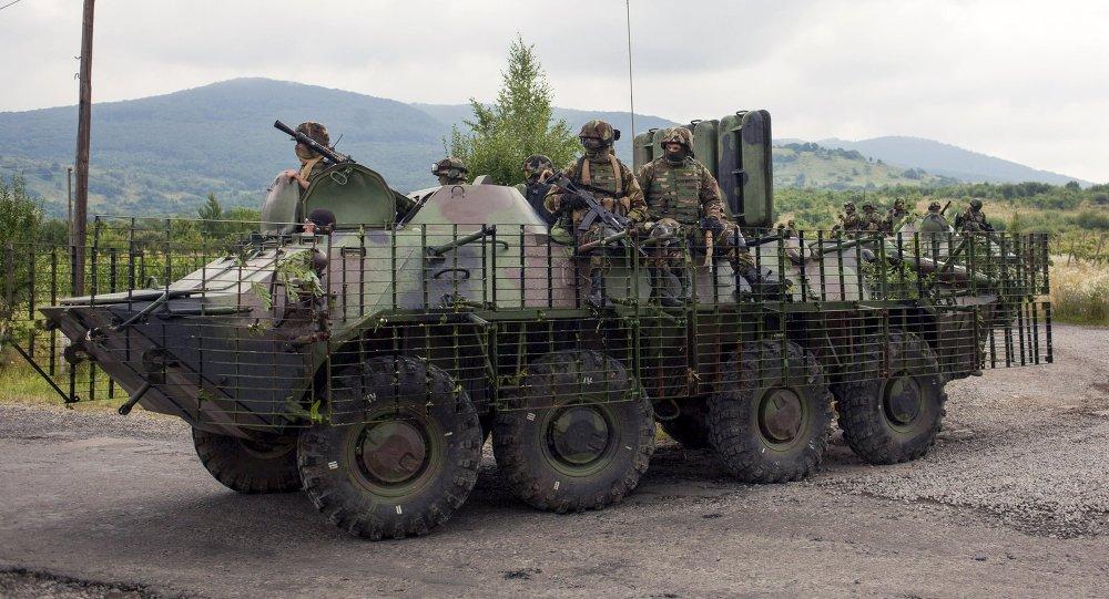 Fuerzas ucranianas cerca de Mukachevo