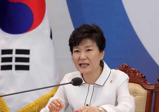 Park Geun-hye, presidenta de Corea del Sur