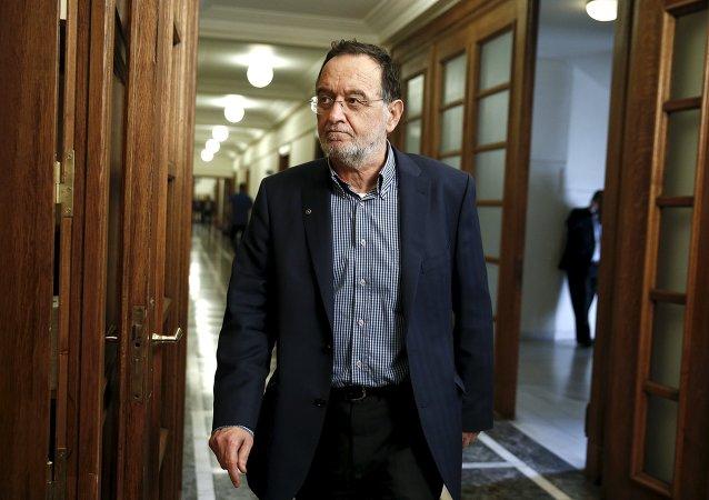 Panagiotis Lafazanis, ministro de energía de Grecia