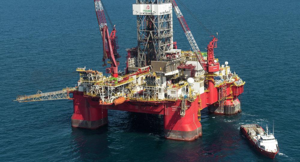 Plataforma petrolífera de Pemex en Golfo de México