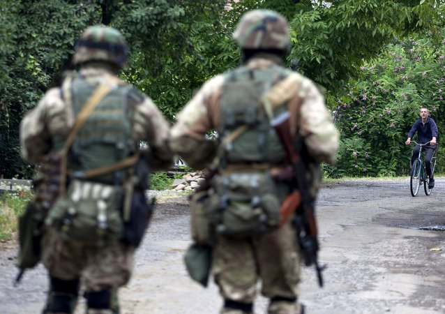 Militares ucranianos en Mukáchevo