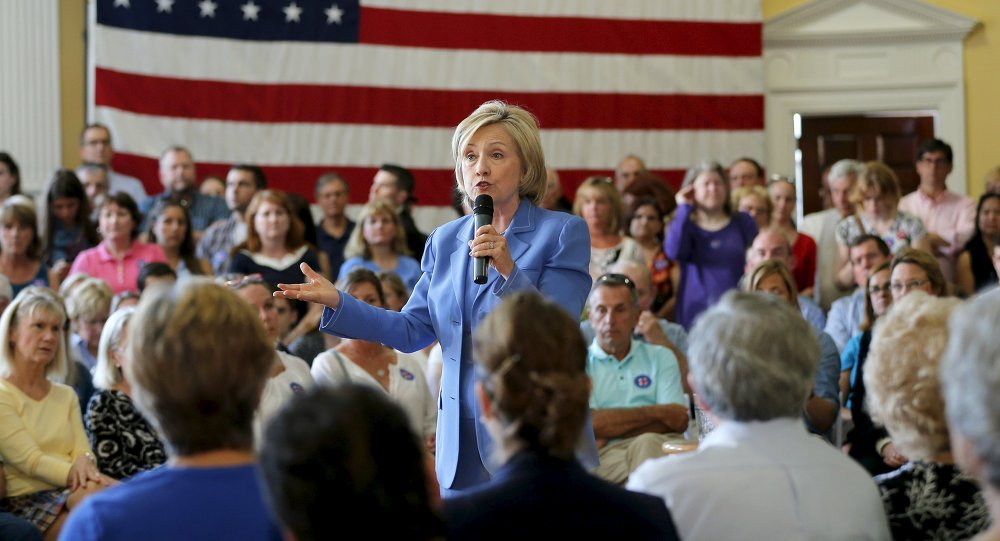 Hillary Clinton, precandidata presidencial  de EEUU
