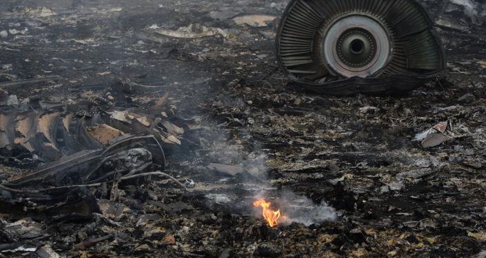 El lugar del siniestro del MH17 en Ucrania