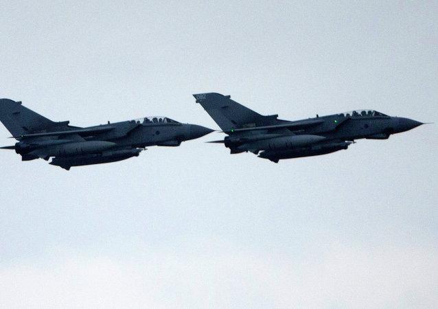 Cazas de la Real Fuerza Aérea (RAF) británica (archivo)