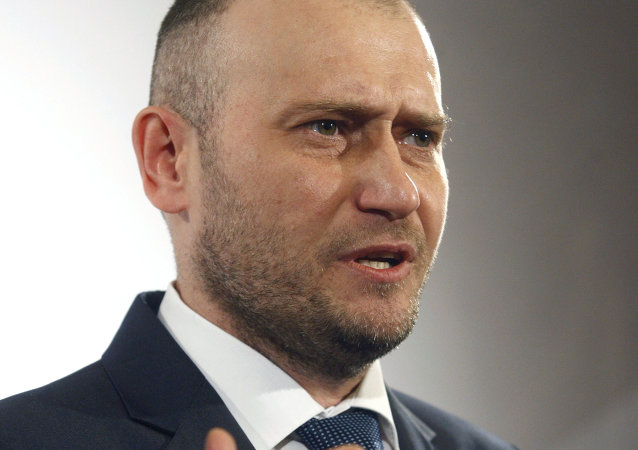Dmitri Yarosh, líder del ultraderechista grupo ucraniano Pravy Sektor