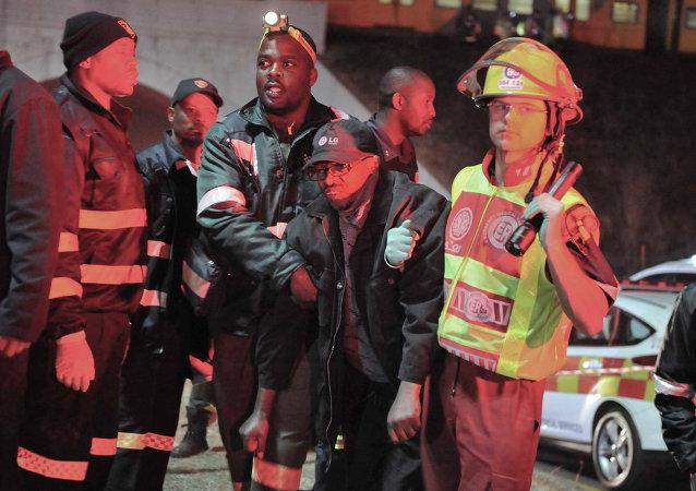 Un pasajero herido en la estación Booyseens, Johannesburgo