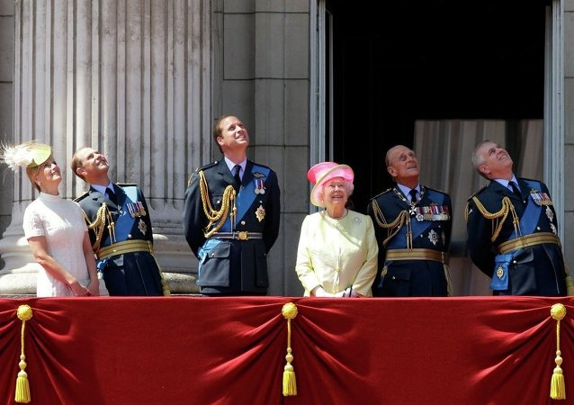 Familia Real del Reino Unido en el palacio de Buckingham