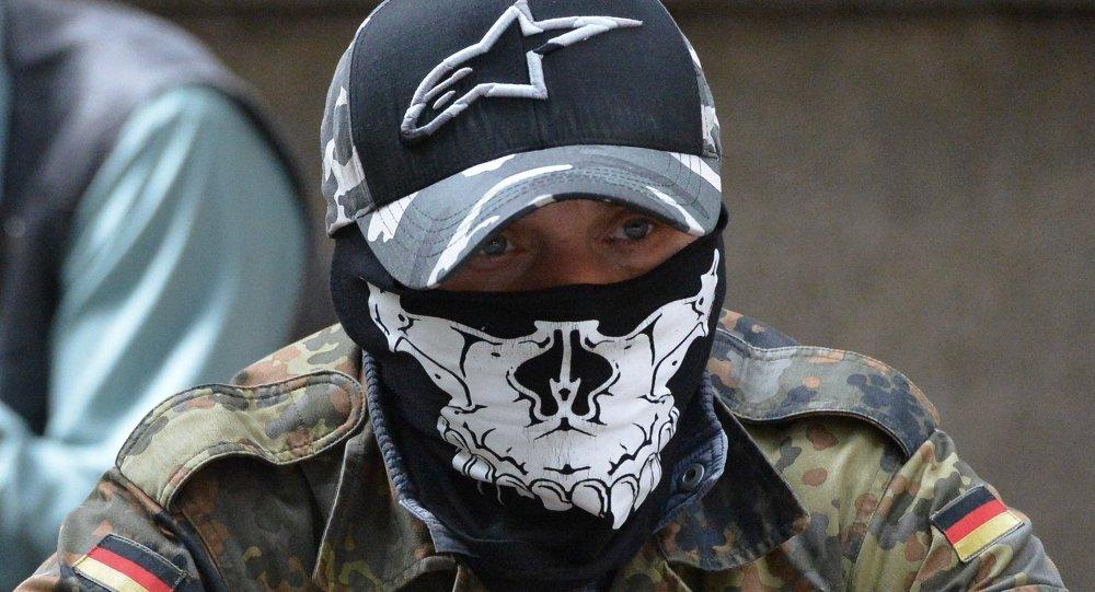 Mitin del grupo radical Pravy Sektor en Kiev