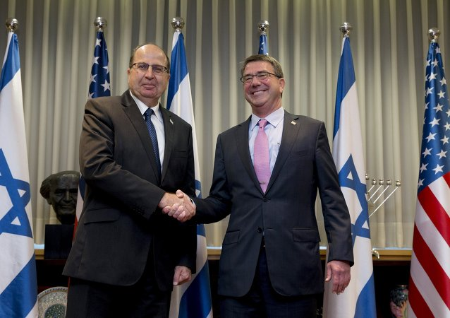 Ministro de Defensa de Israel, Moshe Yaalon, y secretario de Defensa de EEUU, Ashton Carter