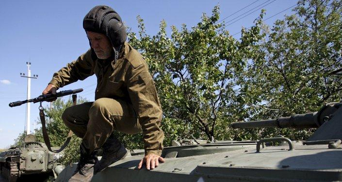 Un miliciano de Donetsk (archivo)