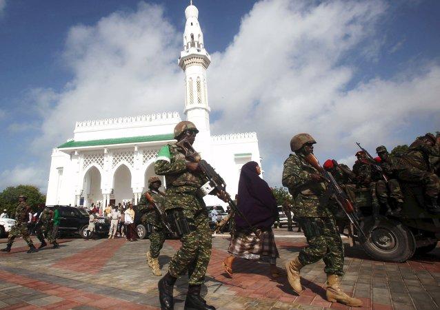 Soldados de la Unión Africana en Somalia (archivo)