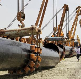 Construcción de un gasoducto en Irán