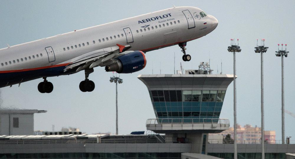 Un avión de compañía aérea rusa Aeroflot