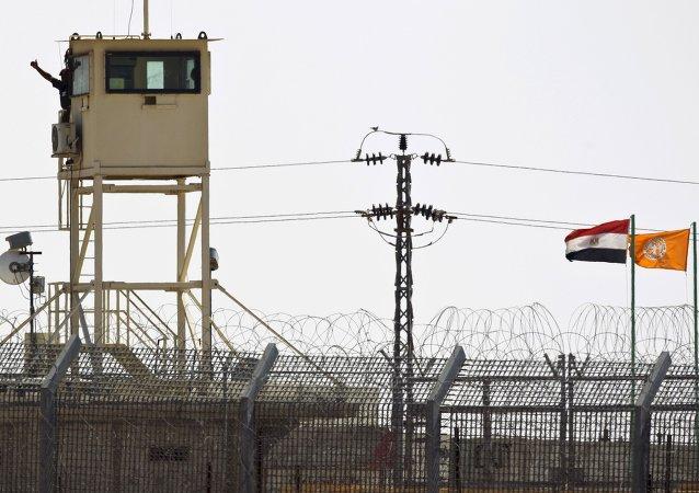 Puesto de control del Ejército egipcio en el norte de la península del Sinaí  (archivo)