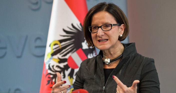 Johanna Mikl-Leitner, ministro del Interior de Austria