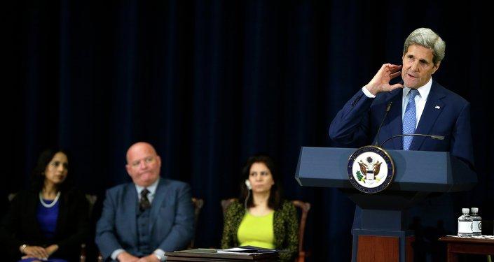 Secretario de Estado de EEUU, John Kerry, presenta un informe del Departamento de Estado sobre tráfico de personas de 2015