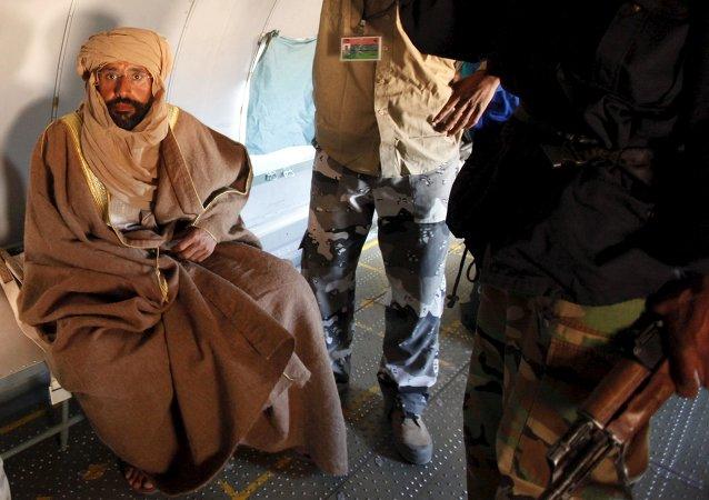 Saif Islam Gadafi, hijo de Muamar Gadafi (archivo)