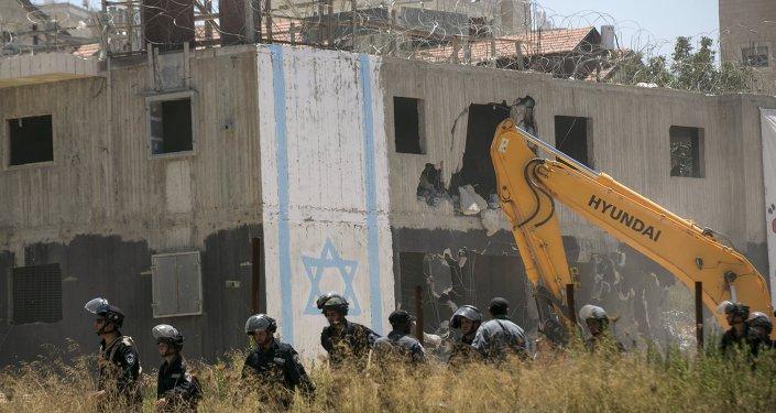 Construcción de colonías judías en Ramala