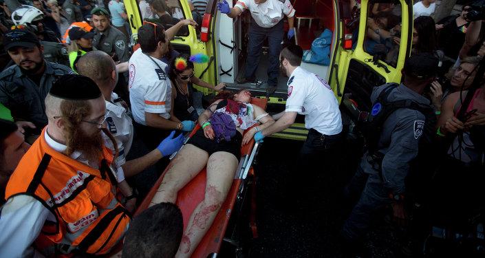 Una víctima del ataque en el desfile del orgullo gay de Jerusalén