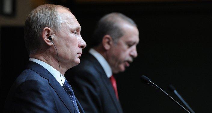 Presidente de Rusia, Vladímir Putin y presidente de Turquía, Recep Tayyip Erdogan