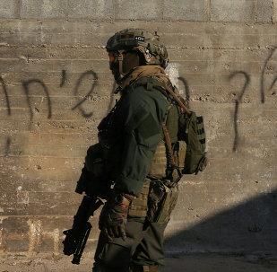 Militar israelí en Cisjordania