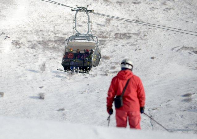 Esquiadores chinos