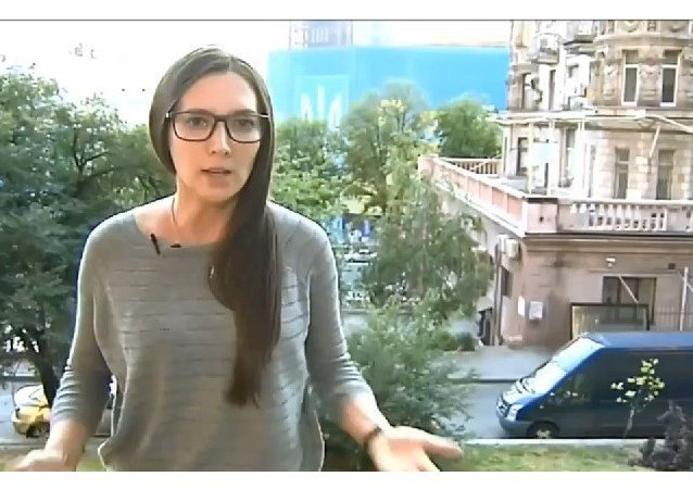 Alexandra Cherepniná, reportera del Canal 1 ruso