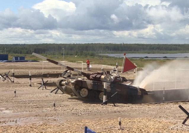 Lo más destacado del concurso ruso Biatlón de Tanques