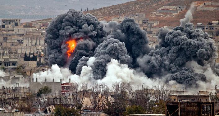 Bombardeos de Kobani por las Fuerzas Aéreas de EEUU (archivo)
